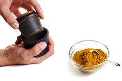 Curry mortar Royalty Free Stock Photo
