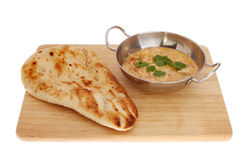 Curry and naan Stock Images