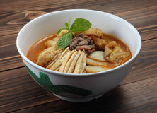 Curry noodle. A bowl of hot and spicy noodle Royalty Free Stock Photography