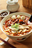 Curry noodles. Famous Malaysian curry lasksa noodles Royalty Free Stock Photography