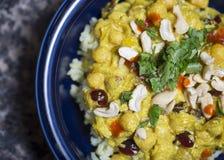 Curry over rice Stock Photos