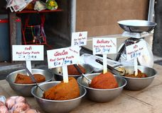 Curry paste of various kinds,  Thailand Stock Image