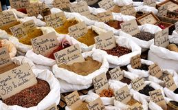 Curry, Pfeffer, garam masala Lizenzfreie Stockfotografie