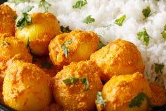 Curry piccante appena preparato della patata o wi caldi e piccanti di aloo di Dum Immagine Stock Libera da Diritti