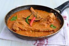 Curry piccante del montone fotografie stock