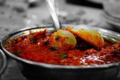 Curry piccante dell'uovo immagini stock