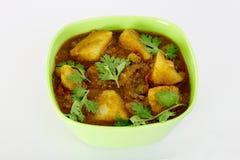 Curry piccante indiano della patata Immagini Stock