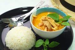 Curry pork roasted asparagus Stock Photos