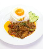 Curry  pork and white rice Royalty Free Stock Image