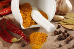 Curry powder Royalty Free Stock Photos