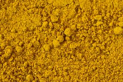 Curry Powder. A macro shot of a curry powder. Can be used as a background royalty free stock images