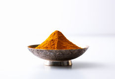 Curry powder in a bowl Stock Photography