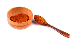 Curry powder in a bowl on the white Royalty Free Stock Images