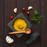 Curry Powder Spice and Other Ingredients Stock Image