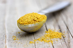 Curry Powder in Teaspoon Royalty Free Stock Photos