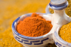 Curry powders Stock Photos