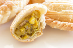 Curry Puff. Chicken curry puff close up Royalty Free Stock Images