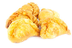 Curry Puff with Isolated  white background Royalty Free Stock Photography
