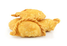 Curry Puff pastry on white background. Royalty Free Stock Photography