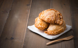 Curry puff pastry Stock Image