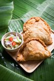 curry puff stuffed chicken Royalty Free Stock Image