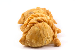Curry puff. On white background Stock Photography