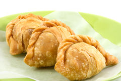 Curry puff. On white background Stock Photo
