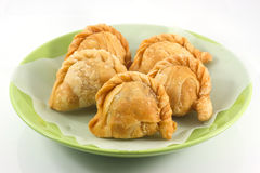 Curry puff. On white background Royalty Free Stock Photography