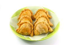 Curry puff. On white background Stock Images