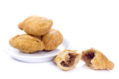Curry puffs isolated on a white background. Stock Photo
