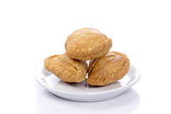 Curry puffs isolated on a white background. Royalty Free Stock Photo