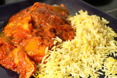 Curry and Rice. Indian cuisine  Balti dish Stock Photography