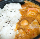 Curry with rice Stock Image