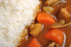 Curry with rice Stock Photos