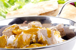 Curry rice with chicken meat Royalty Free Stock Photo