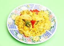 Curry rice with chicken Stock Images