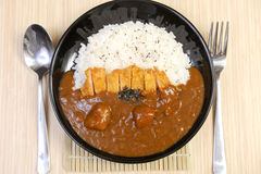 Curry with rice Japanese style Royalty Free Stock Image