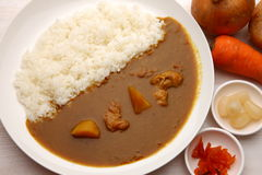 Curry with rice Japanese style Stock Image