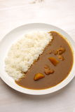 Curry with rice Japanese style Stock Photos