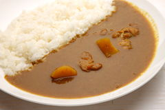 Curry with rice Japanese style Royalty Free Stock Photos
