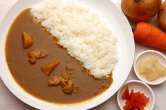 Curry with rice Japanese style Stock Photography