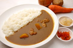 Curry with rice Japanese style Royalty Free Stock Photography