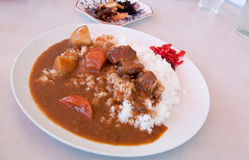 Curry with rice, Japanese style Royalty Free Stock Images