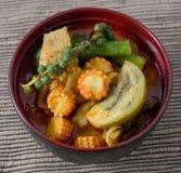 Curry rojo con leche del cerdo y de coco Foto de archivo libre de regalías