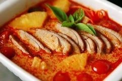 Curry rojo del pato Fotografía de archivo