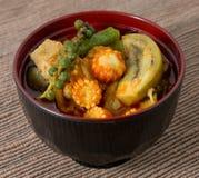 Curry rojo delicioso con leche del cerdo y de coco Fotografía de archivo libre de regalías