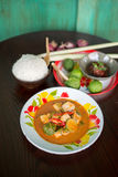 Curry rosso tailandese Immagine Stock Libera da Diritti