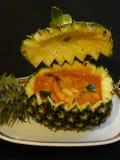 Curry rosso tailandese con l'ananas Fotografie Stock Libere da Diritti