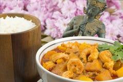 Curry rosso tailandese del gamberetto Fotografie Stock Libere da Diritti