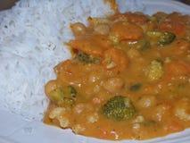 Curry rosso tailandese del vegano - la pianta ha basato l'alimento immagine stock